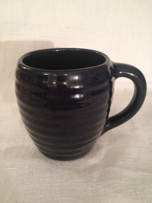 COFFEE MUG(BAUER POTTERY)   #MIDNIGHT BLUE