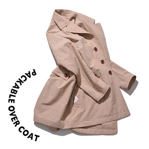 Packable over coat [Beige]