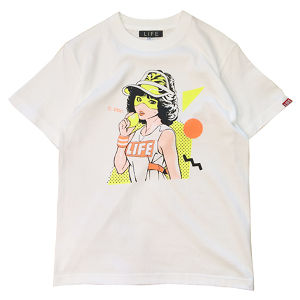 80's SUPPA  TEE/ WHITE