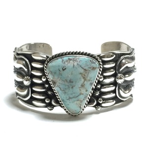 ''50% off セール'' Navajo Sterling Silver & Dry Creek Turquoise Bangle by Darryl Becenti