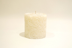 BeeMyCandle Paisley Piller/Silver