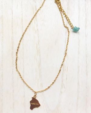 Hawaii plate necklace