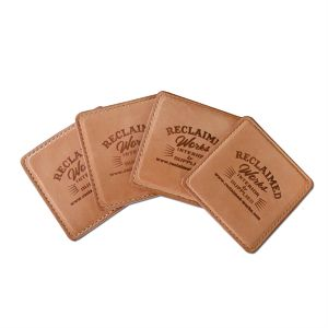 Hand Made Leather Coaster -Set of 4-