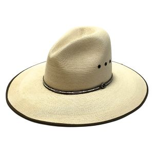 Atwood Hat Company 15X Vintage Longbrim Straw Hat Off White 7 1/8