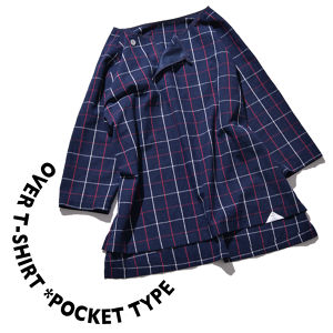 Over T-shirt *pocket type [ Navy Check ]