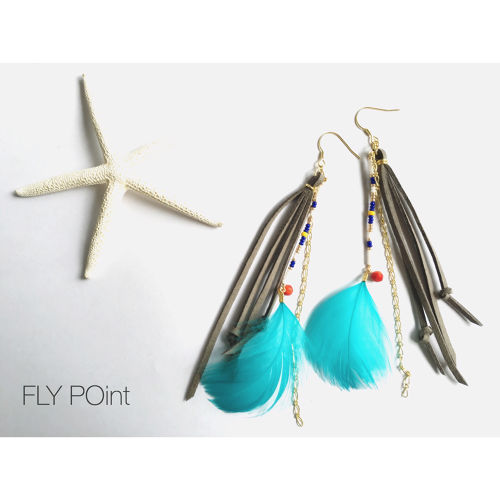 近日入荷予定☆-long native feather pierce-