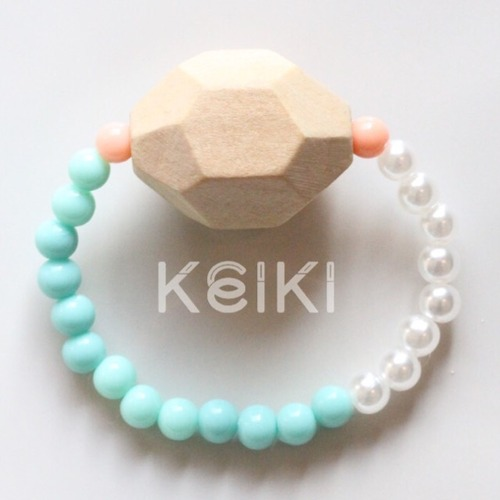 Children's Bracelet - Polyhedron Sea Foam キッズブレスレット keiktheshop