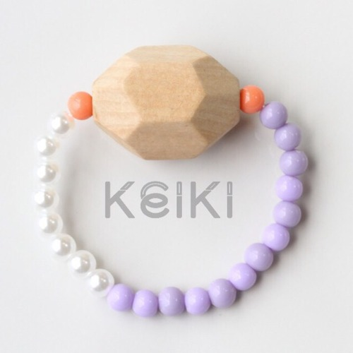 Children's Bracelet - Polyhedron Purple キッズブレスレット keiktheshop