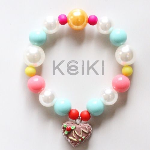 Children's Bracelet - Sweets Charm Heart Chocolate キッズブレスレット keikitheshop
