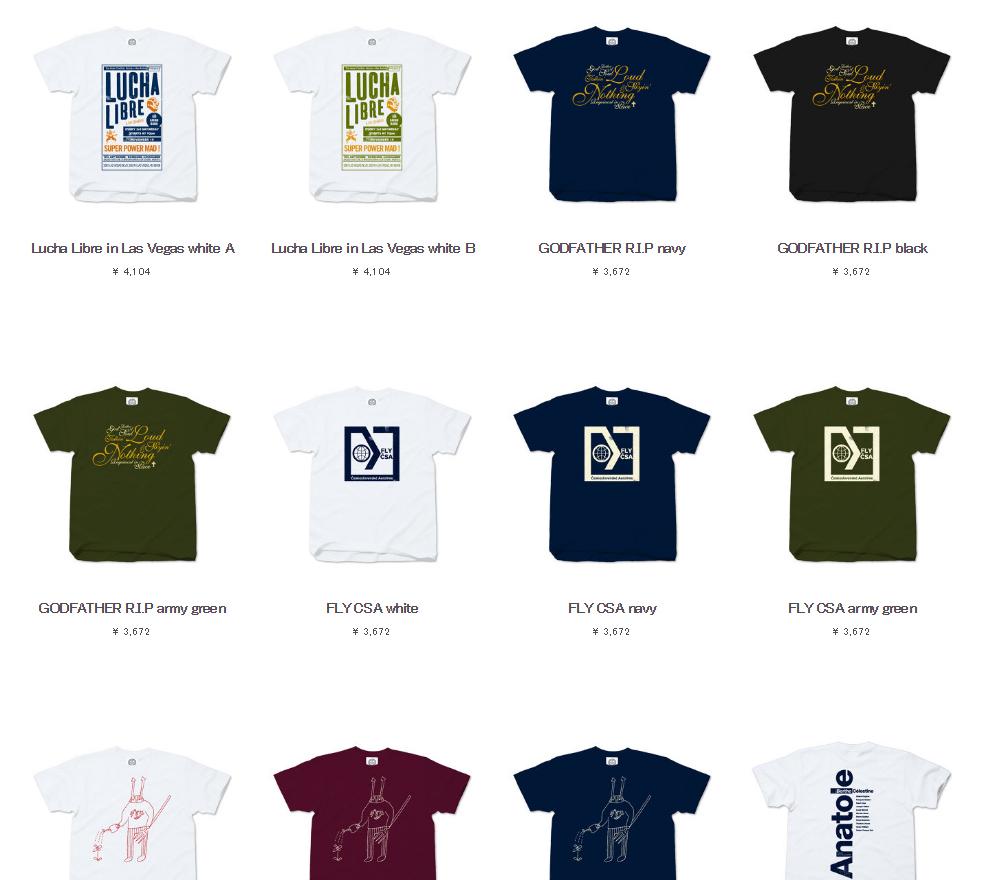 2016年6月の新作Tシャツ2アイテムリリースと追加生産のお知らせ