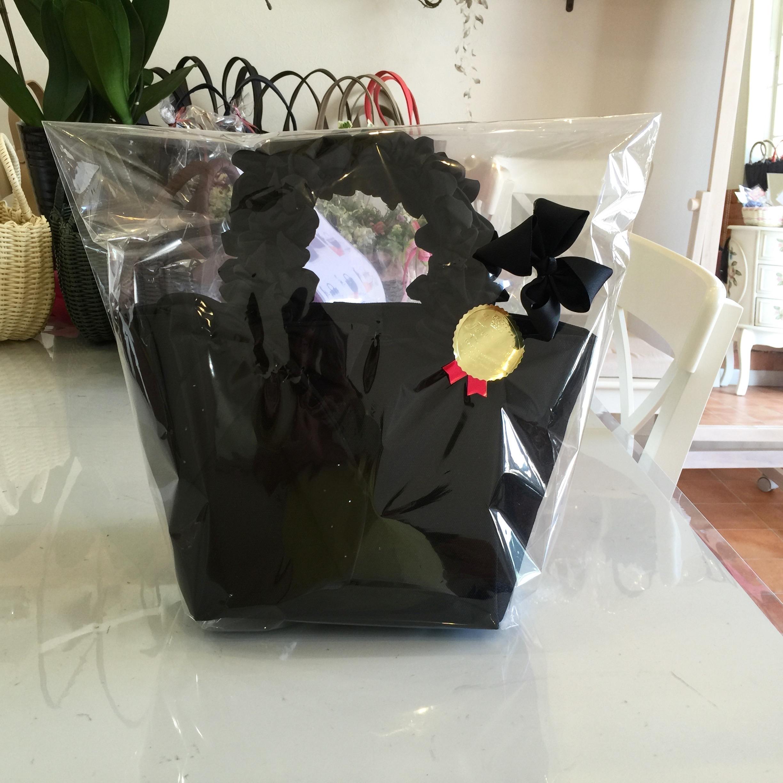 《黒の8号帆布のクシュクシュハンドルバッグ》
