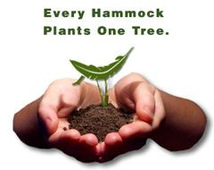地球の緑を守るエコプロジェクト。ハンモックを買って、木を植えよう!