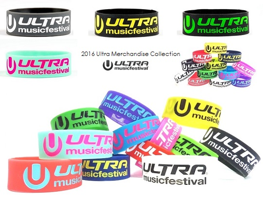 UMF グッズ 2016 ULTRA マイアミ 新色 ULTRA シリコンリストバンド 国内入荷!