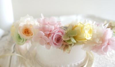 「優しいマルチカラーの花冠」をお届けしました!