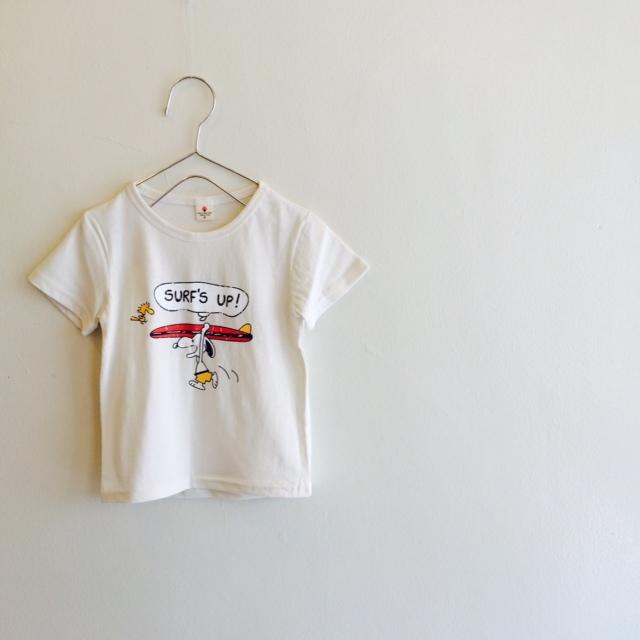 surfスヌーピー&ウッドストック Tシャツ