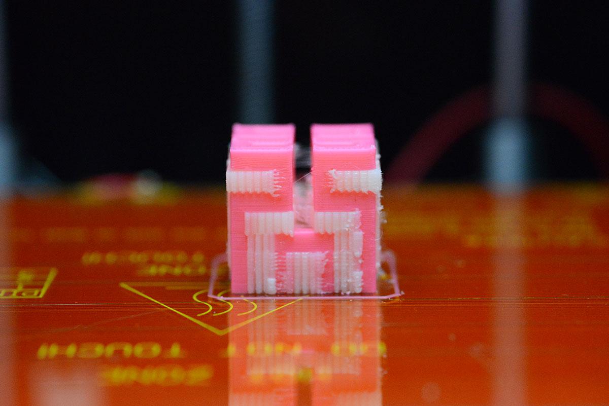 Lepton Dual 3DプリンターでサポートPVAをプリントしてみた!