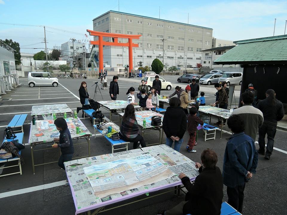 和田岬こどもワークショップ。Aiko Taoka & Kazuya Taoka