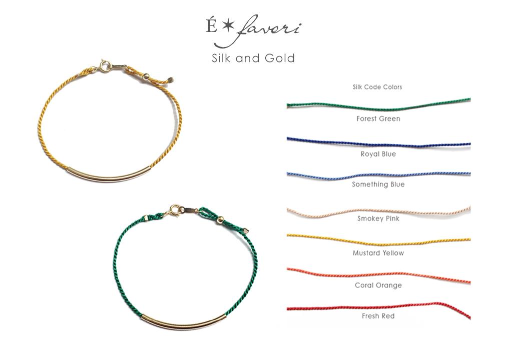 """大人カジュアルを楽しめる """"Silk Code x Curve Pipe Bracelet"""""""