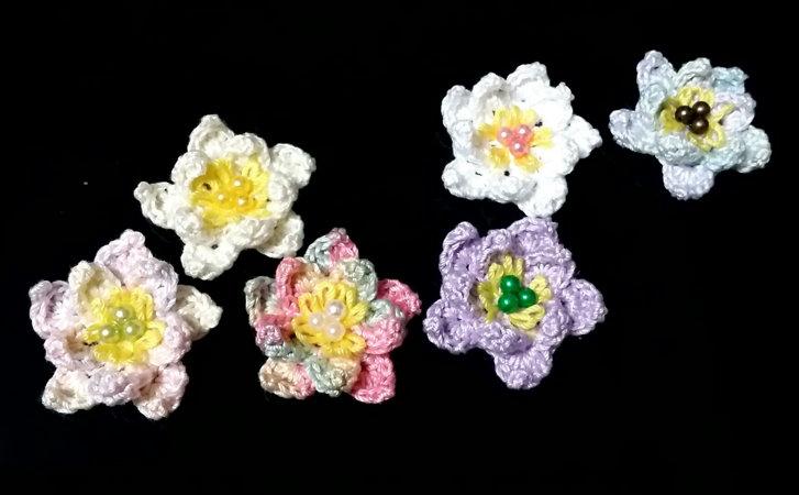 新しいお花の3Dモチーフができました(^^♪