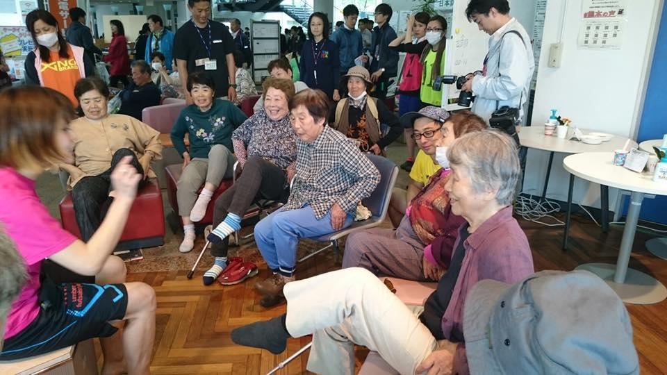 GWも被災地で運動指導のボランティア活動