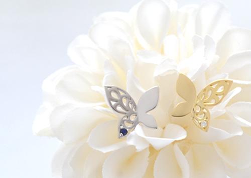 エスニックな蝶のピアスで美しくHappyに♡