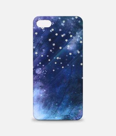 宇宙と銀河のスマホケースで満天の星を手のひらに 銀色の星を広げて遊ぶ空