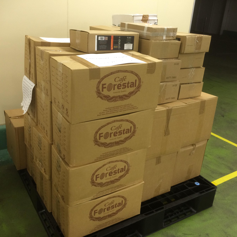 初回輸入:商品が倉庫に入荷しました