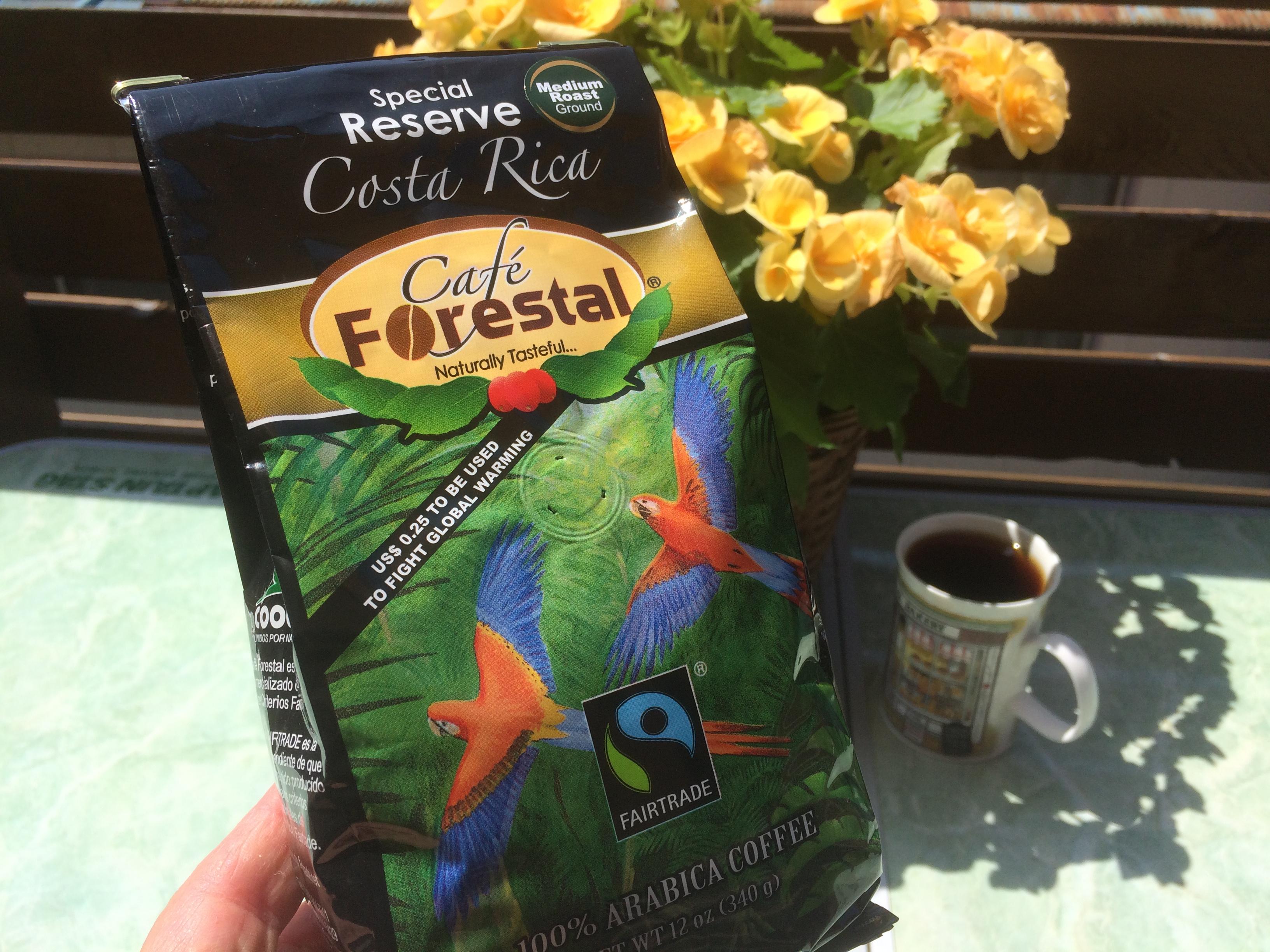 本日のコーヒー:カフェ・フォレスタル・スペシャル・リザーブ