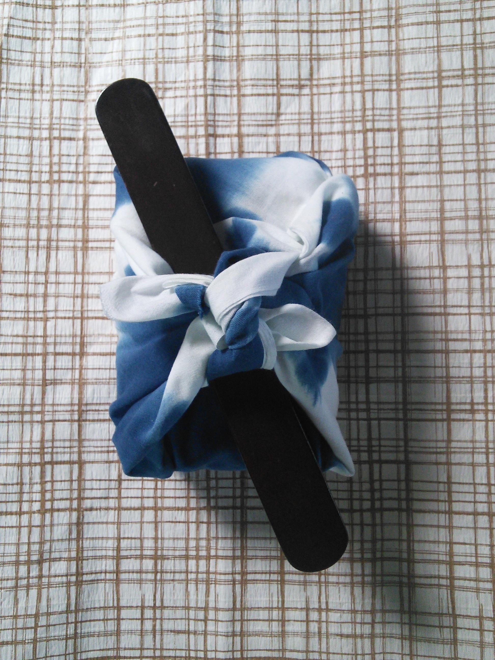 新商品 藍染 雪花絞りてぬぐい