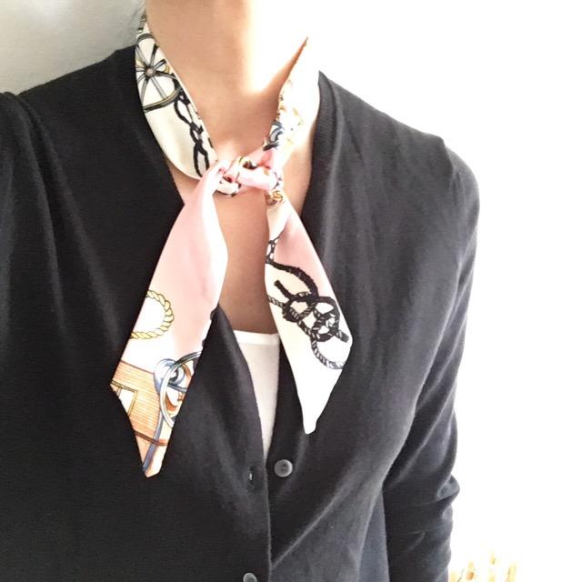 スカーフブレスレットの巻き方~スカーフ編