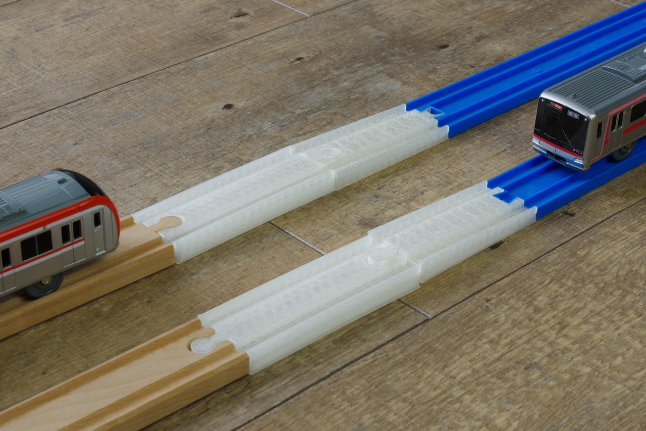 3Dプリンターで作る線路のおもちゃ、木製線路やプラレールに続く新しいブランドがデビューです