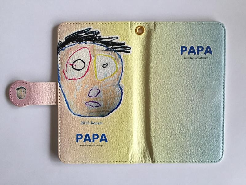 ママの絵、パパの絵で手帳型スマホケースを制作しました! Hair Ocean(ヘアーオーシャン)様