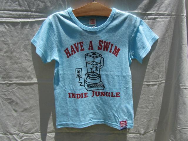 お魚がミキサーの中で泳いでる?!コンセント入ってる!想像かき立てられる子供服です。