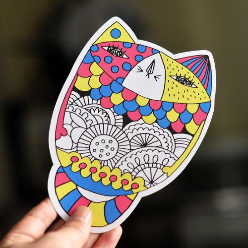 ふて猫ポストカード