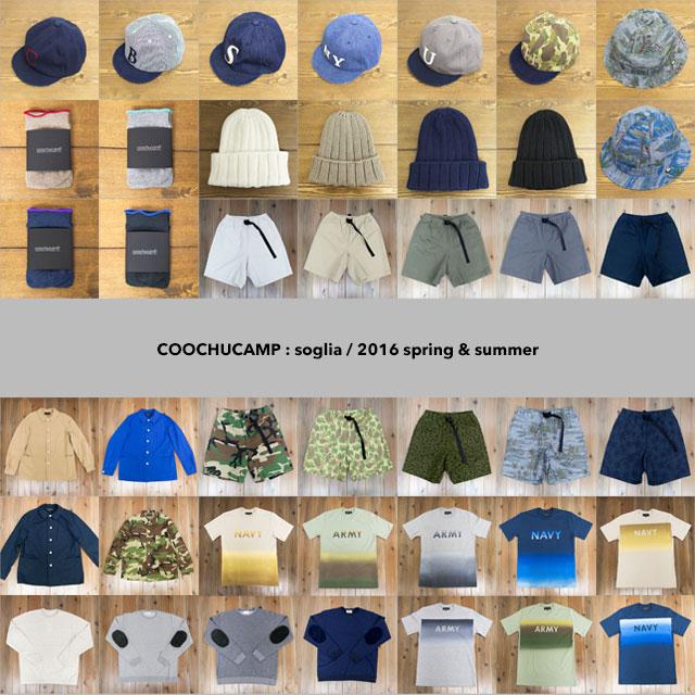 COOCHUCAMP / soglia : 2016SS all lineup!
