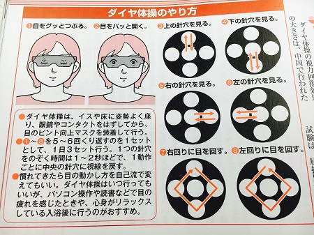 『ピンホールマスク』の知られていない目からウロコの機能⑤視覚筋ほぐしのトレーニングに好適!