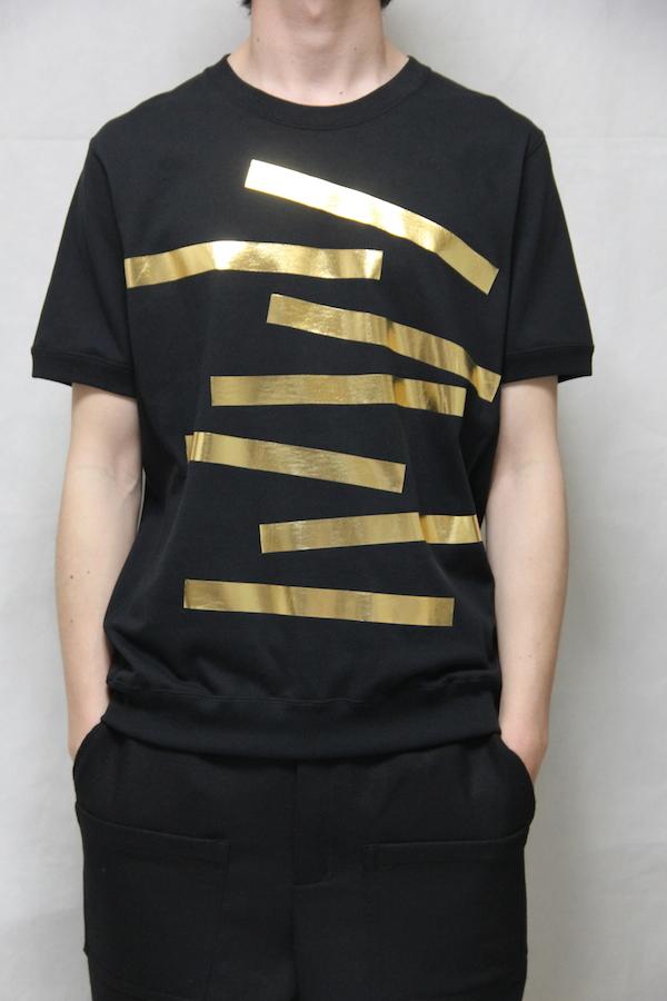 162007&162008 Gold Metal foil Print Tshirt