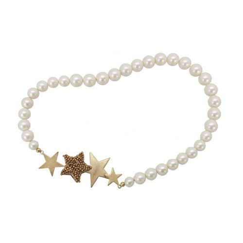 まるでミルキーウェイ♪ぷっくりした星がかわいいパールネックレス