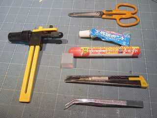 [玉玉屋]ペーパークラフトに必要な道具