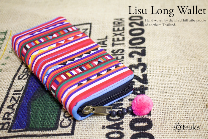世界に一つだけのハンドメイド商品!伝統的なタイ山岳民族リス族の可愛い長財布!!