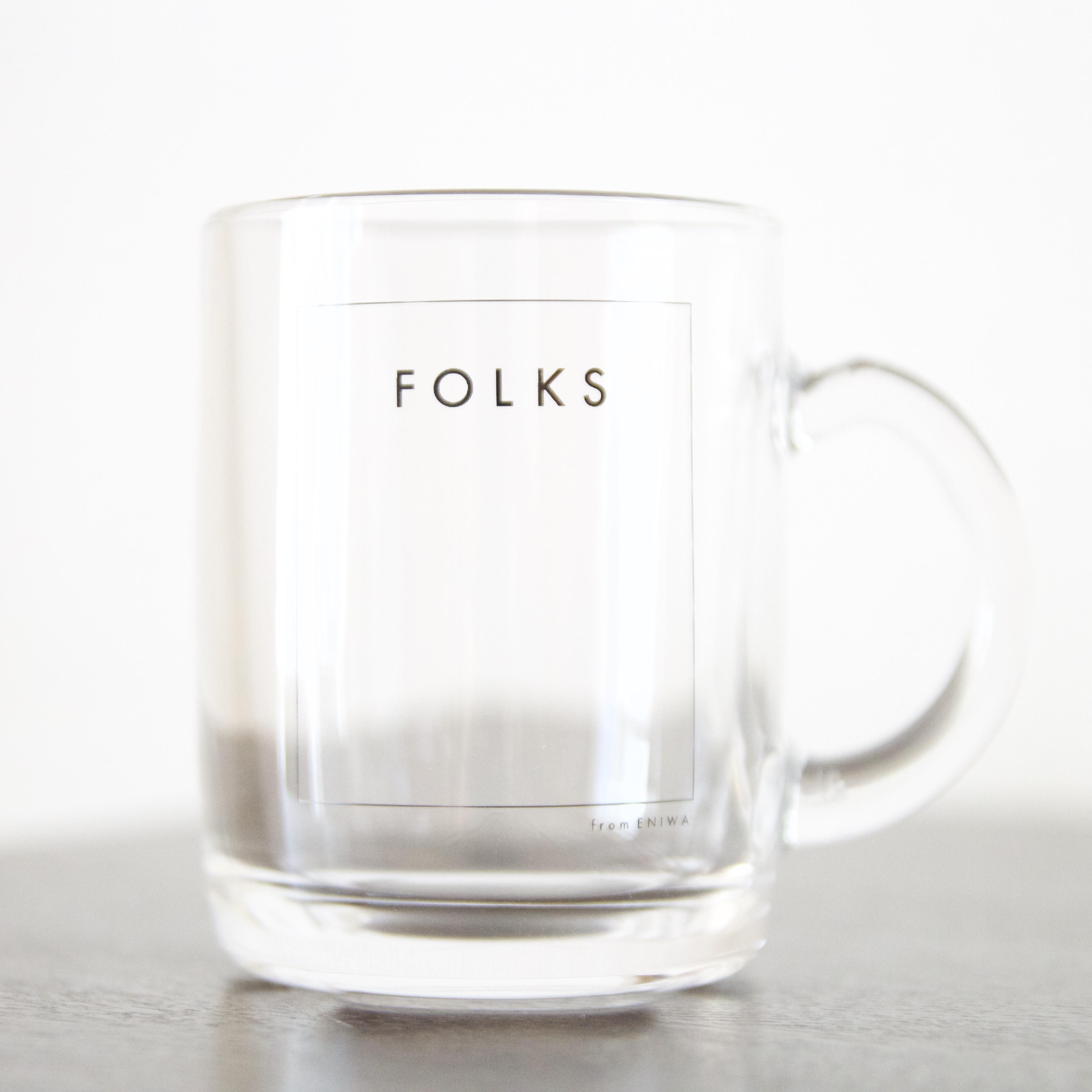 FOLKS メンバーオリジナルデザイングラスマグが発売!