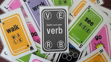 英語を楽しく!動詞を理解!カードゲーム「verb」